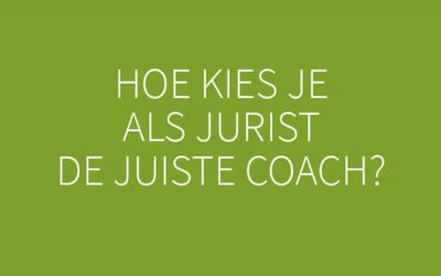 Jurist kiest coach: 6 tips