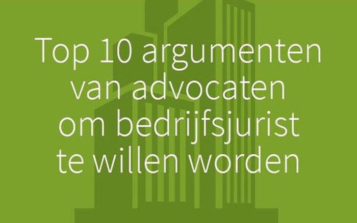 Top 10 argumenten van advocaten om bedrijfsjurist te willen worden