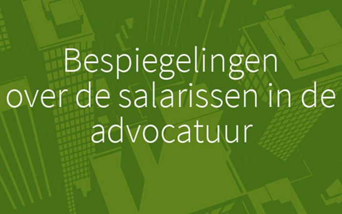 Jaarlijks salarisoverzicht advocatuur interessant maar nog niet volledig