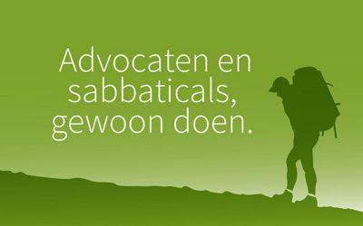 Advocaten en sabbaticals, gewoon doen